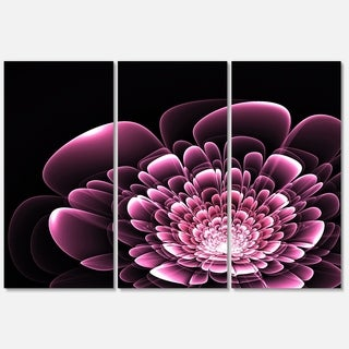 Purple Glossy Typical Fractal Flower - Floral Glossy Metal Wall Art - 36Wx28H