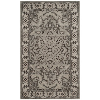 Safavieh Handmade Antiquity Grey / Beige Wool Rug (3' x 5')