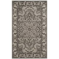 Safavieh Handmade Antiquity Grey / Beige Wool Rug - 3' x 5'