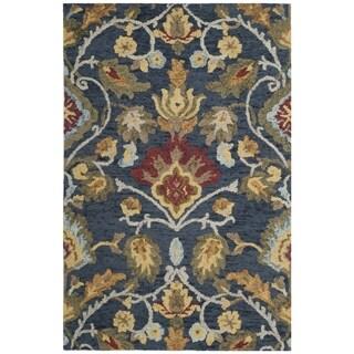 Safavieh Handmade Blossom Navy / Multicolored Wool Rug - 3' x 5'