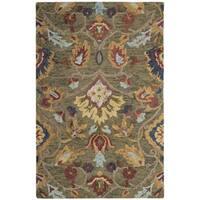 Safavieh Handmade Blossom Green / Multicolored Wool Rug - 3' x 5'