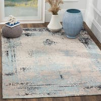 Safavieh Classic Vintage Blue Cotton Abstract Distressed Rug - 4' x 6'