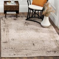 Safavieh Classic Vintage Anthracite Cotton Abstract Distressed Rug - 4' x 6'