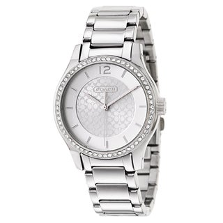 Coach Women's Silvertone Stainless Steel Quartz Watch