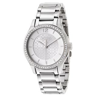 Coach Women's Silvertone Stainless Steel Quartz Watch|https://ak1.ostkcdn.com/images/products/12669006/P19456105.jpg?impolicy=medium