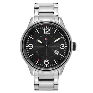 Tommy Hilfiger Men's Black Dial Stainless Steel Watch