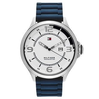 Tommy Hilfiger Men's Blue/Silver Stainless Steel Watch