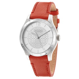 Coach Women's Orange Leather Fashion Watch