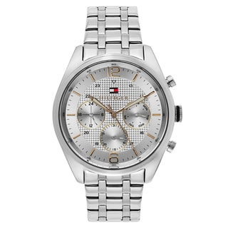 Tommy Hilfiger Men's Silvertone Stainless Steel Chronograph Watch