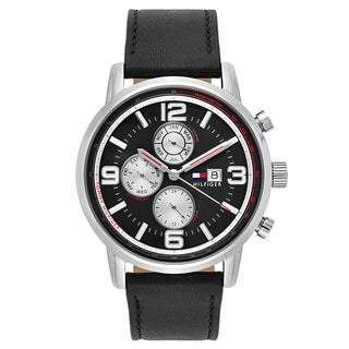 Tommy Hilfiger Men's Stainless Steel and Leather Quartz Watch