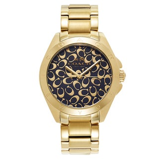 Coach Women's Gold Fashion Logo Watch