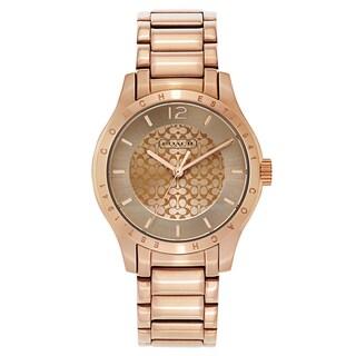 Coach Women's Rose Goldtone Fashion Watch