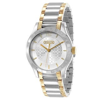 Coach Women's Gold and Stainless Steel Two-tone Watch