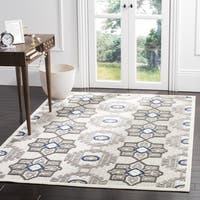 Safavieh Indoor / Outdoor Cottage Grey / Dark Grey Rug - 3' 3 x 5' 3