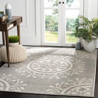 Safavieh Indoor / Outdoor Cottage Grey / Light Grey Rug (3' x 5')