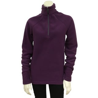 Narragansett Traders Women's Purple Polyester Fleece 1/4-zip Medium-weight Pullover