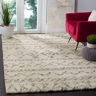 Safavieh Handmade Casablanca Ivory / Grey New Zealand Wool Rug (4' x 6')