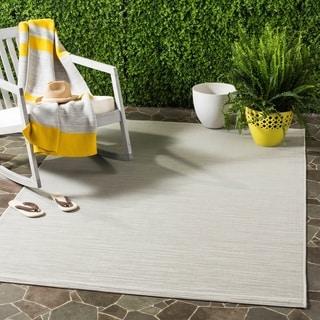 Safavieh Indoor / Outdoor Courtyard Light Grey Rug (3' x 5')