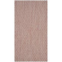 Safavieh Indoor / Outdoor Courtyard Rust / Light Grey Rug - 3' x 5'