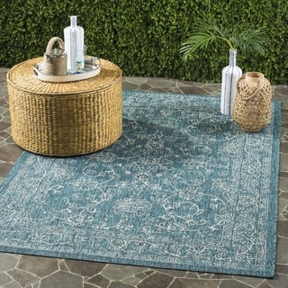 Safavieh Indoor / Outdoor Courtyard Turquoise Rug (4' x 6')