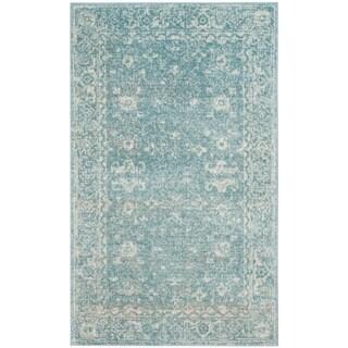 Safavieh Evoke Vintage Oriental Light Blue/ Ivory Distressed Rug (3' x 5')