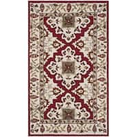 Safavieh Hand-hooked Easy to Care Ivory / Ivory Rug - 3' x 5'