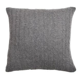 Grey Wool 20-inch Throw Pillow