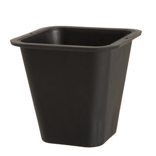 Flower Planter Pot with Sturdy Lip For Transport- 8.25 Quart Plastic by Pure Garden - 6 x 6