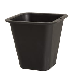 Pure Garden Plastic Flower Pot - 6 x 6 Inch Black
