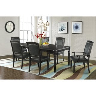 Picket House Quinn Dining Table, 4 Side Chairs & 2 Arm Chairs