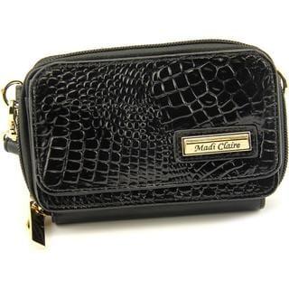 Madi Claire Women's Clarissa Black Leather Handbag