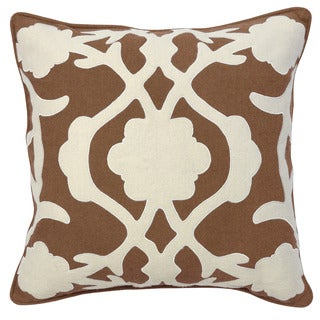 Kosas Home Clint Brown/White Cotton 22-inch x 22-inch Feather-and-down-filled Throw Pillow