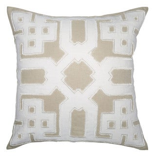Kosas Home Cellie Ivory and Natural 22-inch x 22-inch Throw Pillow