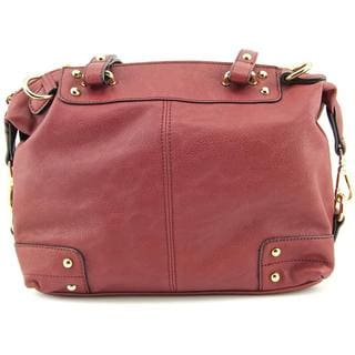 Moda Luxe Women's Broadway Red Faux Leather Handbag