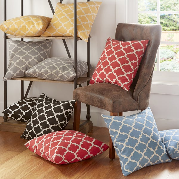 Shop Montvale 20 Inch Moroccan Pattern Toss Accent Pillow Set Of 2