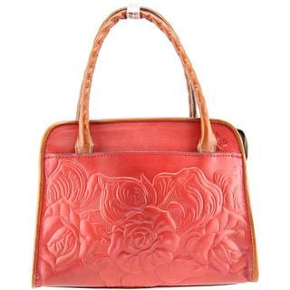 Patricia Nash Women's Small Tooled Rose Paris Leather Handbag