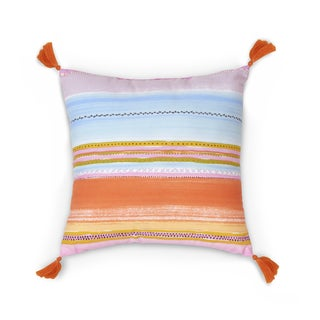 Haute Girls Safari Square Stripe Decorative Pillow