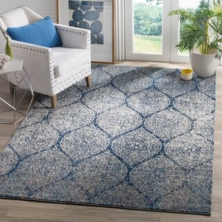 Safavieh Madison Vintage Navy/ Silver Distressed Rug (4' x 6')