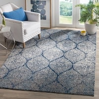 Safavieh Madison Vintage Navy/ Silver Distressed Rug - 4' x 6'