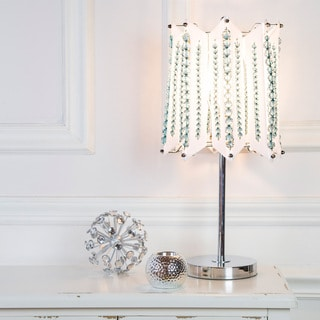 River of Goods Lights, Camera, Action Chrome and Acrylic Crystal Table Lamp