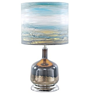 River of Goods Impressionist Collection Forever Blissful Painted Shade 22.25-inch High Table Lamp