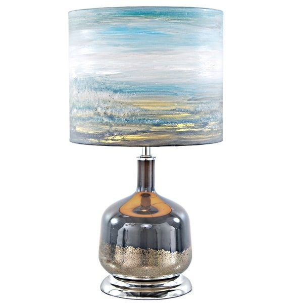 River of Goods Impressionist Collection Painted Shade Table Lamp