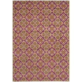 Safavieh Madison Bohemian Fuchsia/ Gold Rug (3' x 5')