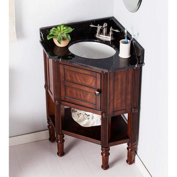 corner bathroom vanity with sink. Harper Blvd Bauer Marble Top Corner Bath Vanity Sink  Free Shipping Today Overstock com 19456958