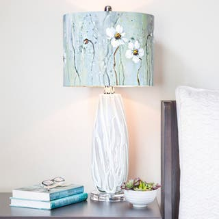 River of Goods Impressionist Collection Jasmine Flower Painted Shade 28.5-inch H Table Lamp|https://ak1.ostkcdn.com/images/products/12670308/P19456964.jpg?impolicy=medium