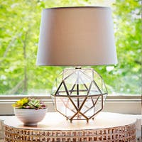 Industrial Metal and Glass 16.5-inch High Orb Table Lamp
