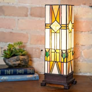 """River of Goods 14"""" High Stained Glass Mission Accent Uplight