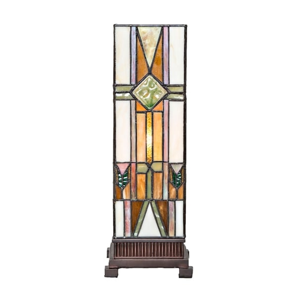 """River of Goods 14"""" High Stained Glass Mission Accent Uplight"""