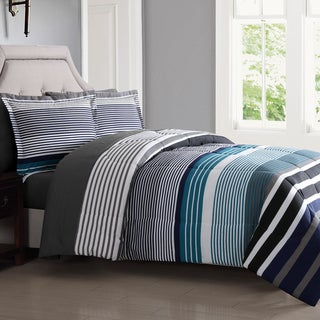 London Fog Abbington Stripe 7-Piece Bed In a Bag