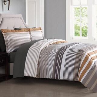London Fog Abbington Stripe 7-Piece Bed In a Bag with Sheet Set